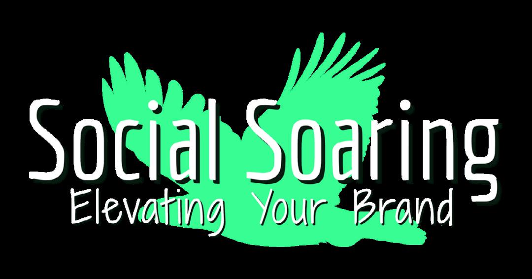 Social Soaring Logo White & Green