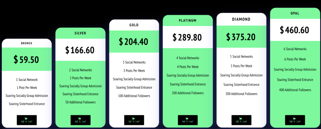 Social Soaring's Plans & Packages